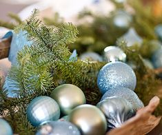 Pop fresh cut evergreens into vases for instant #holiday cheer!