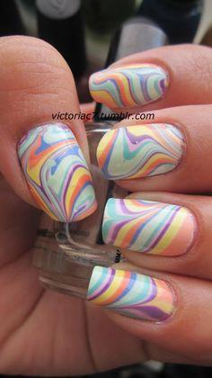 Nails  #nails #nailart #watermarble
