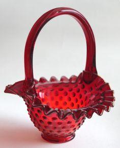 Fenton candy dish basket