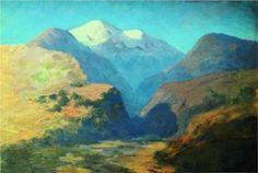 Snowy mountain peaks. Caucasus. - Arkhip Kuindzhi