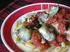 Crock pot Tomato Artichoke Chicken
