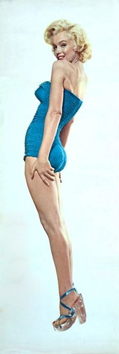 Marilyn Monroe. A still taken to promote How To Marry a Millionaire (1954) Blue Bathing Suit