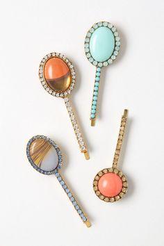 spangl bobbi, bobbi pin, color, anthropologie, hat hair, bobby pins, beauti, hair accessories, pin set
