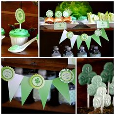 St Patrick's Day Green Ombre Party + FREE Party Printables!
