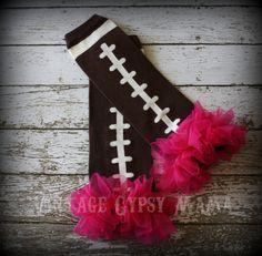 Customizable Football Leg Warmers Fuchsia by PinkLimonadeBoutique, $8.99  https://www.etsy.com/listing/95307488/customizable-football-leg-warmers?utm_source=Pinterest&utm_medium=PageTools&utm_campaign=Share
