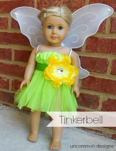 diy halloween costumes, tinker bell, american girl costume, tinkerbel costum, costume halloween