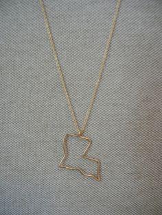 Gold Filled Louisiana Necklace. $38.00, via Etsy.