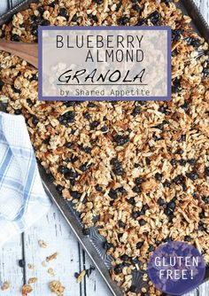 Gluten-Free Blueberry Almond Granola (with Chia Seeds!)
