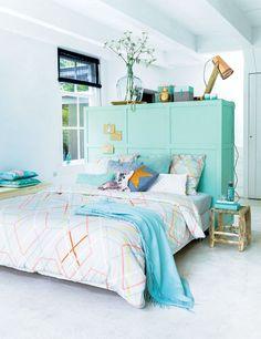 Mint headboard / room divider