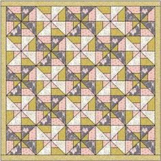 Pinwheel squares quilt pattern and tutorial from Ludlow Quilt and Sew