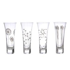 Platinum Etched Champagne Glass Set  at www.shopredsail.com