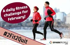 Jump-Start Your Motivation with Our February Challenge! Commit to 28 days of daily exercise--a minimum of 10 minutes per day. Let's keep that New Year momentum going! | via @SparkPeople #fitness #exercise #workout #2Fit2Quit #RockYourResolution