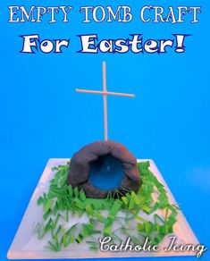 Easy Empty tomb craft for Easter. Use supplies you already have around the house at Easter time anyway! Great for every age to celebrate the true meaning of Easter this year. :-)