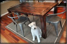 LOVE this table! farmhous tabl, dine room, rustic farmhouse, dine tabl, farmhouse table, wood tables, diy, table designs, dining tables