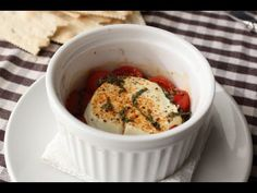 "Baked Goat Cheese ""Caprese"" 