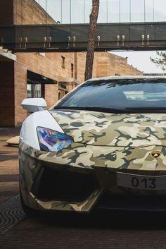 Unique military inspired print #Lamborghini LP700-4 Aventador