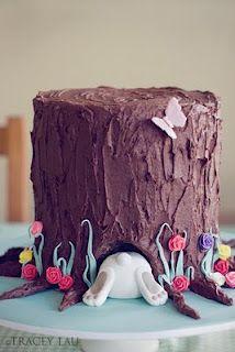 rabbit hole, tree stumps, food, alice in wonderland, easter cake, bunni cake, easter bunny, parti, birthday cakes