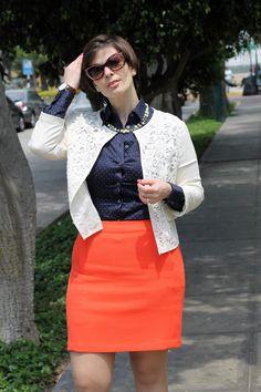 Divina Ejecutiva: Mis Looks - Naranja y Azul