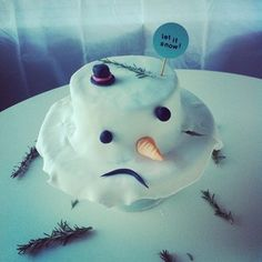 Even her sad snowman is delightful.   15 Of The Cutest Cakes You'll Ever See