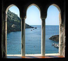 Through the arches ...