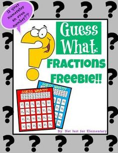 Guess What? Fraction FREEBIE: Played just like Guess Who