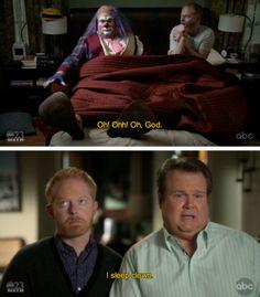 """I sleep clown.""---Cam from Modern Family"