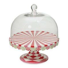 Peppermint Cake Plate - Photo