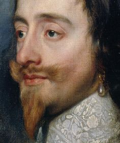 Detail from Charles I triple portrait, by Sir Anthony Van Dyck, 1635-1636. Collection of H.M. the Queen, London.
