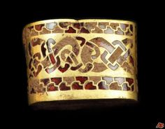 Gold and garnet inlay arm band, from the Staffordshire hoard