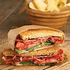 BST Sandwiches | MyRecipes.com #myplate #protein #grain #vegetable