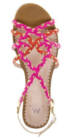 pink, orange & gold sandals. <3