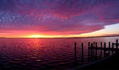 sunset over Assawoman Bay in Ocean City, Maryland