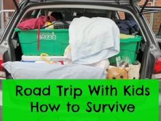 A fabulous collection of tips for surviving a long road trip with kids - so many ways to make the trip memorable and fun.
