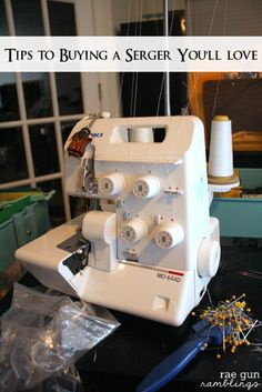 Tips and tricks to buying a serger you'll actually use and love. Already have one, but it's still an area of sewing that I could use all the advice I can get in.
