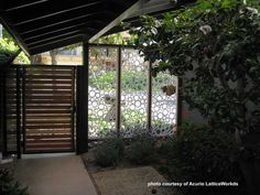 Interesting use of vinyl lattice panels for privacy.  on Front-Porch-Ideas-and-More.com #porches