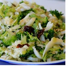 For a sweet and savory side dish, try this Broccoli Slaw. The cruciferous veggie has even more cancer-fighting properties when eaten raw.