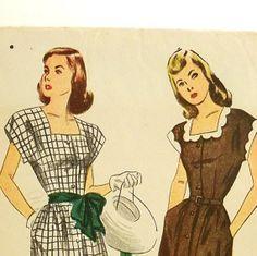 Vintage 1940s Dress Pattern Simplicity 1981 Uncut Size by Revvie1, $20.00