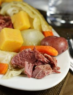 New England Boiled Dinner {aka ~ Corned Beef & Cabbage}.  Just perfect for St. Patrick's Day ... or ANY day.  www.thekitchenismyplayground.com  #cornedbeef