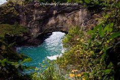 A natural bridge on the Oregon Coast.