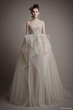 Ersa Atelier Spring 2015 #bridal collection: Ang Mey strapless ball gown #wedding dress #weddingdress #weddinggown