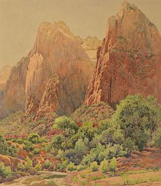 GUNNAR WIDFORSS The Patriarchs, Zion National Park (1924)