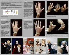 Wiring jointed hands tutorial by ~scargeear on deviantART