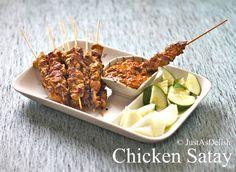 Chicken Satay Recipe   JustAsDelish.com