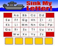 "FREE LANGUAGE ARTS LESSON - ""Literacy Center Game - Sink My Letter!"" - Go to The Best of Teacher Entrepreneurs for this and hundreds of free lessons.  PreK-1   #FreeLesson   #TeachersPayTeachers   #TPT   #LanguageArts   http://www.thebestofteacherentrepreneurs.net/2013/01/free-language-arts-lesson-literacy.html"