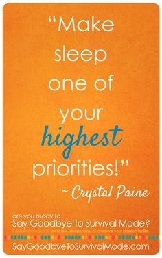 Make sleep one of your highest priorities - Money Saving Mom®