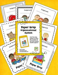 FREE Paper Drop Organizational System - No more missing names on papers when you sit down to grade a stack of student work!
