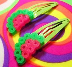 barrette hama perler beads for hair