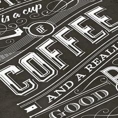 Coffee | Typography by Tomasz Biernat, via Behance