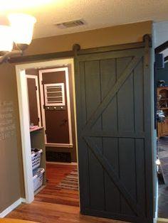 DIY Sliding Barn Door  ** awesome instructions **