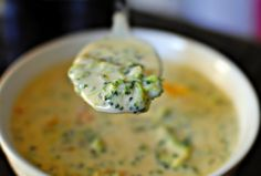 THIS broccoli and cheddar soup can be so straightforward to make and tastes just devine